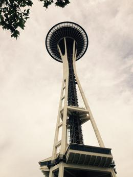 Space Needle in grey Seattle , Shari M - July 2017