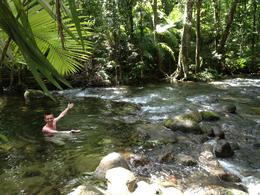 Swim at Mossman Gorge, Asha & Brock - July 2013