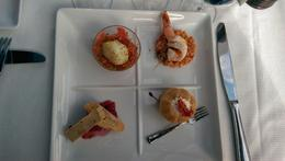 The first course: A beautiful presentation and Delicious, too. , Chuck J - July 2014