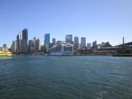 Beautiful view of the city from the top deck of the boat, Nicks - December 2013