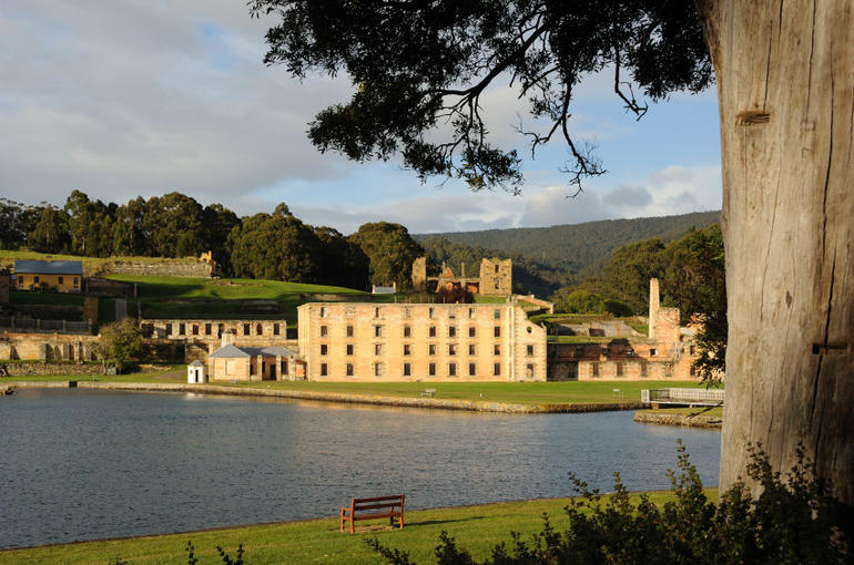 Early morning at the Port Arthur convict settlement in Tasmania, Australia - Hobart