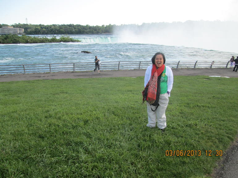 Enjoying the Mist of the Niagara Falls - New York City