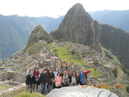 Group in Machu Picchu , Leonila C - July 2013