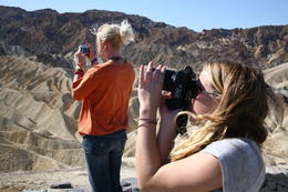Capturing the light at Zabriskie point , Madeleine - September 2012