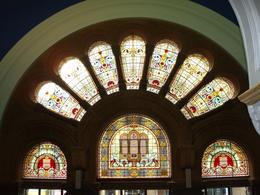 The stained glass windows from the inside of the QVB, Undercover Américan - October 2010