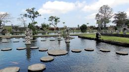 Tirta Gangga pond where you can walk on these stones. , Prana77 - October 2014