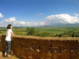 Looking over the Tuscan countryside in Pienza - July 2013