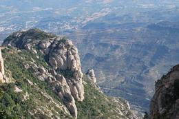 It was a gorgeous day. This overlooks down below from Montserrat., Elizabeth D - February 2009