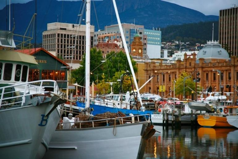 Working port, downtown - Hobart