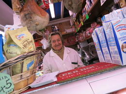 Lina, of Enzo and Lina's shop in the Testaccio market. Best mozzarella. , Rachel Y - November 2016