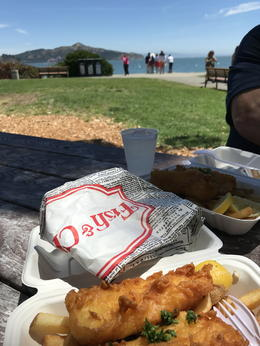 Fish and Chips in Sausalito. , Carole D - July 2017