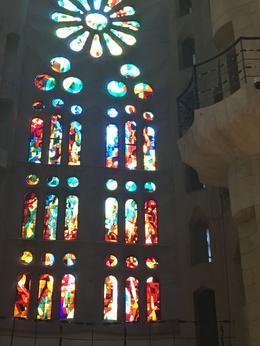 Uno de los vitrales dentro de la Basilica , rniles - July 2017