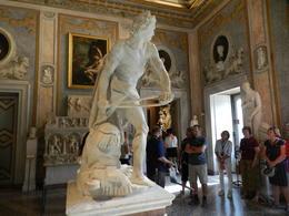 Statue of David by Bernini. , La'Chelle - November 2017