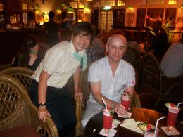 In the long bar in raffles sipping a singapore sling. , Philip A - December 2010