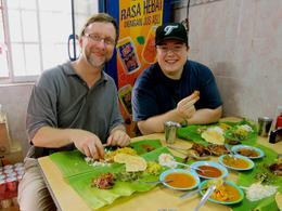 Food served on banana leaves! - July 2012