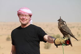 Feeding the falcons. In the pic is my close friend , Petru Rosenthorn - April 2015
