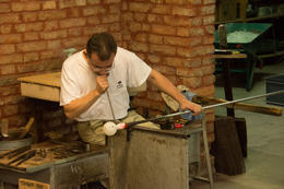 Gentleman demonstrating glass blowing. , martha.gillespie - October 2014