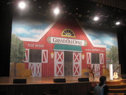 Old set of the WSM radio Grand Old Opry Show , clairemc - August 2011