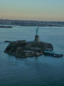 The statue of liberty from the sky - December 2009