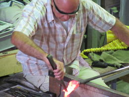 Glass blowing in murano factory , Moira S - September 2014