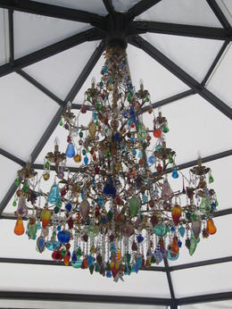 Glass chandelier from the Murano Glass Factory gallery / gift shop , Lynette H - September 2013