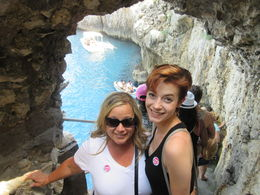 My daughter and I awaiting entrance to the Blue Grotto on Capri , katie.royer09 - July 2016
