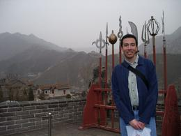 On the way down from the Great Wall, I came across this weapons rack and even some terracotta warriors and I just had to take a picture with them., Roberth R - April 2010