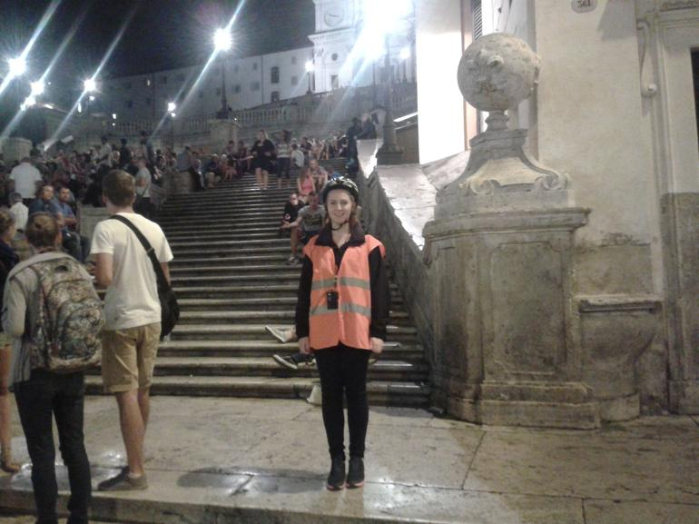 The Spanish steps by night - Rome