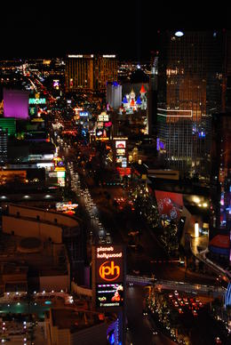 View of the strip from the Eiffel Tower , Brianne M - October 2011