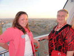 granddaughter and I in pod of the Eye, plenty of room to walk around and take pics , Trudie O - May 2011
