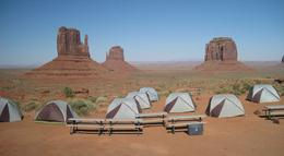 Camp site at Monument Valley - what a view! , Mal - July 2017