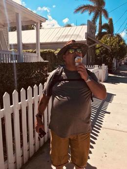 My Dad enjoying the Key lime pie ice cream , Kassie D - November 2017