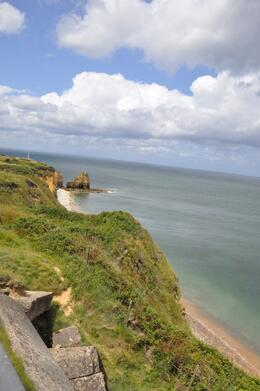 The American soldiers actually scaled these cliffs -- amazing - July 2009