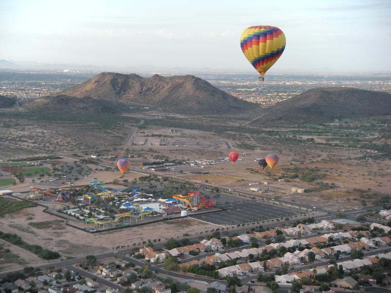 Phoenix Hot Air Balloon Ride - above it all - Phoenix