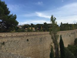 This is a view of the city wall that faces the East, as established by the Romans. , Caleb - October 2015