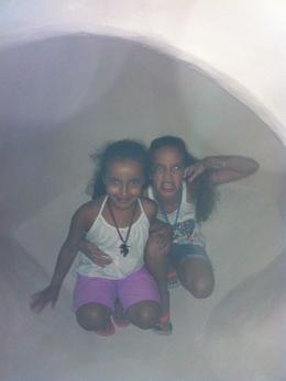 In the ice cave at Wild Arctic in SeaWorld, very cool, Travel Mom - July 2013