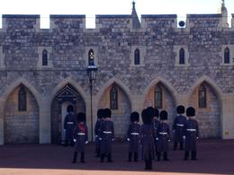 Changing of the Guards at Windsor, we weren't able to see the entire ceremony but saw the majority of it, including the guard's band and formation. , Hfamily - November 2013