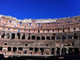 Colosseum with beautiful blue sky , Alicja J - February 2013