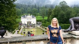 Exploring the beautiful ground of King Ludwig's Linderhof Castle. , Chrissy - September 2015