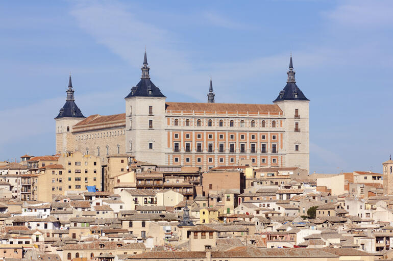 Old town of Toledo, beside the Tagus River, former capital of Spain - Madrid