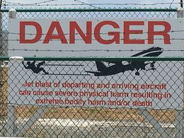 One of the warning signs posted at Maho Beach. , tnyankfan - July 2016