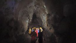 Making our way through one of the larger caverns deep inside the caves. , Allan - September 2015