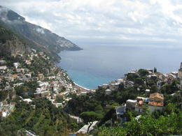 This was the view from the restaurant in Positano , Daniel S - October 2013