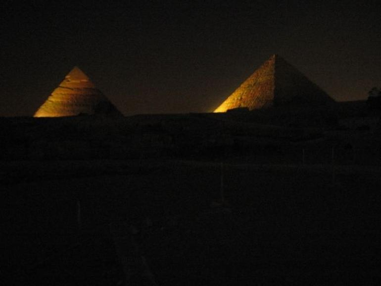 Pyramids at Night - Cairo