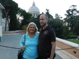 Carol Fisher and Scott Lahn celebrating Scott's 34th birthday in the Vatican. , seasidecarol - September 2014