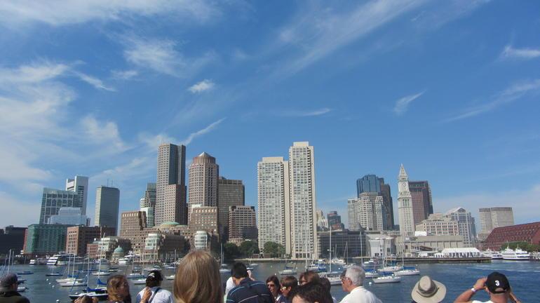 The Boston skylineon the way back - Boston