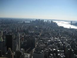 View from the 86th floor -- see the Statue of Liberty in the distance! - February 2008
