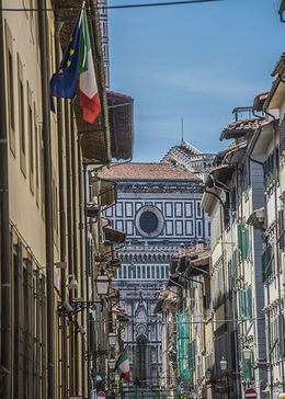 A view down the road towards the Cathedral in Florence. , Glenn G - June 2016