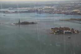 View of Ellis Island and Statue of Liberty , Bryan D - January 2017