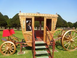 Kim Quinn in a royal carriage at Hampton Court Palace's beautiful gardens. , gotroygreg - May 2016